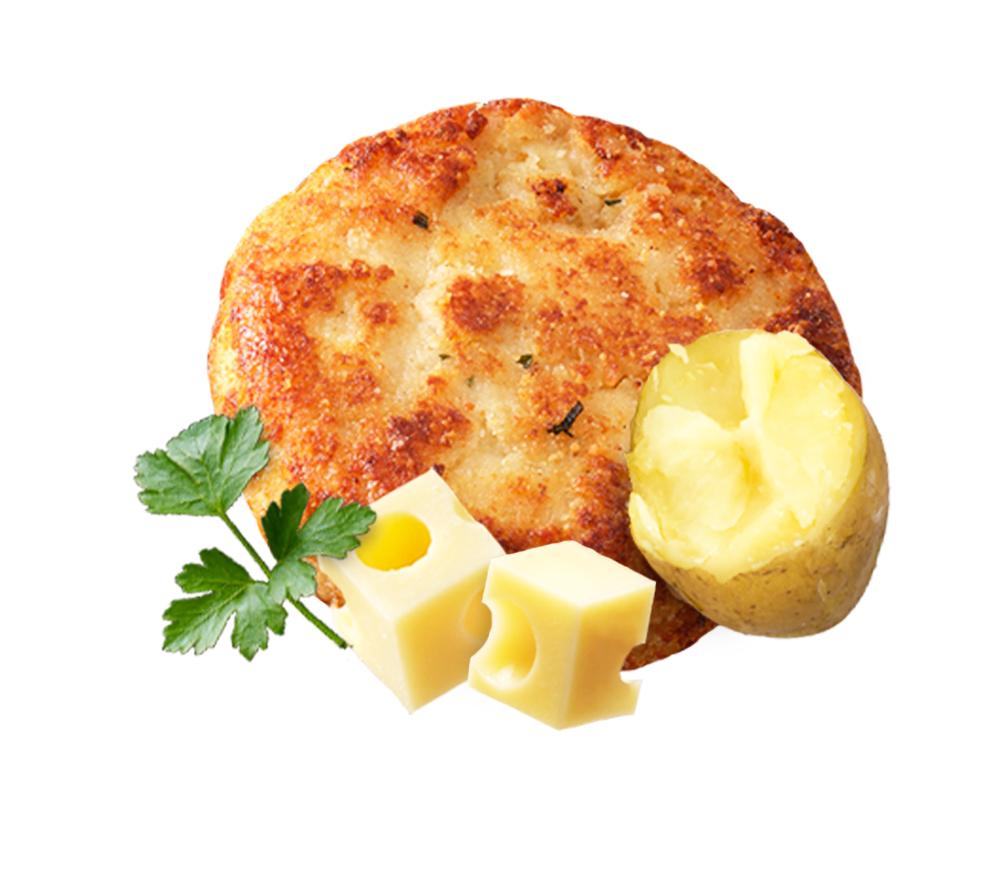 Käse-Kartoffel-Petersilie